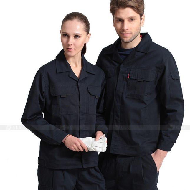 Quan ao dong phuc bao ho GLU X414 đồng phục công nhân xây dựng