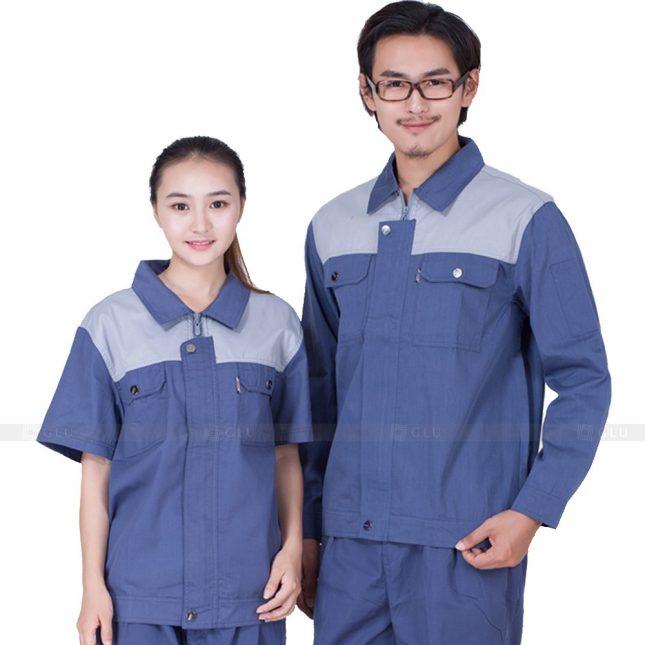 Quan ao dong phuc bao ho GLU X416 đồng phục công nhân xây dựng