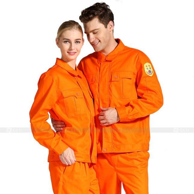 Quan ao dong phuc bao ho GLU X417 đồng phục công nhân xây dựng