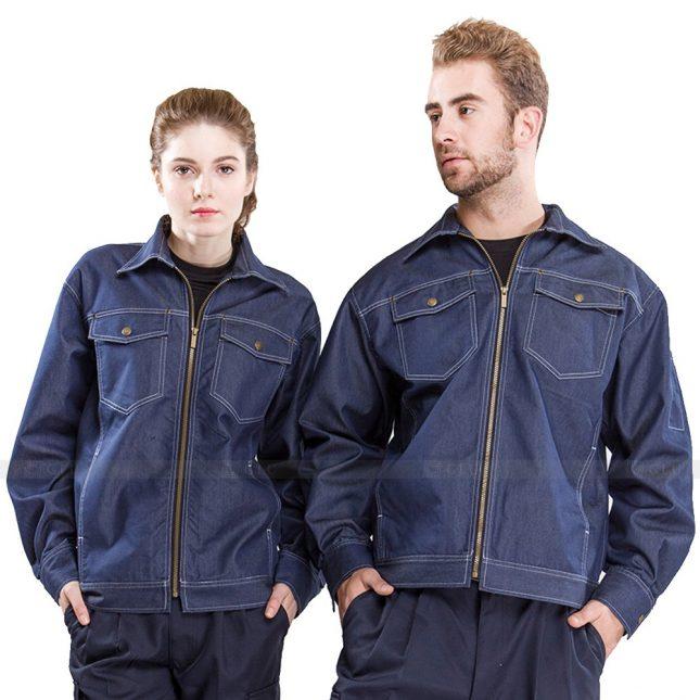 Quan ao dong phuc bao ho GLU X421 đồng phục công nhân xây dựng