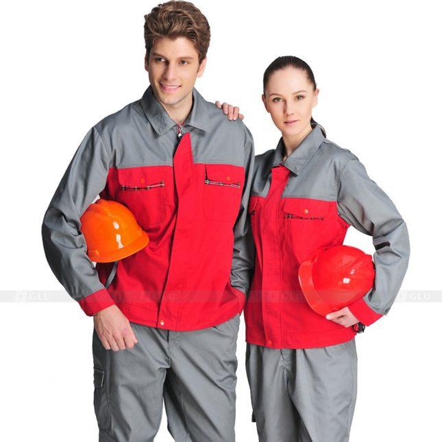 Quan ao dong phuc bao ho GLU X422 đồng phục công nhân xây dựng