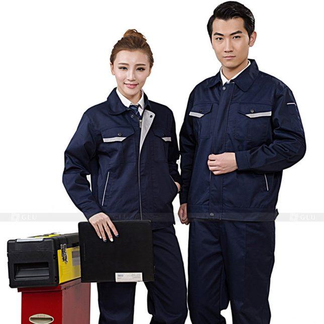 Quan ao dong phuc bao ho GLU X424 đồng phục công nhân xây dựng