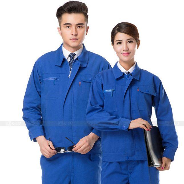 Quan ao dong phuc bao ho GLU X425 đồng phục công nhân xây dựng