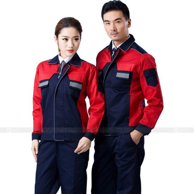 Quan ao dong phuc bao ho GLU X426 đồng phục công nhân xây dựng