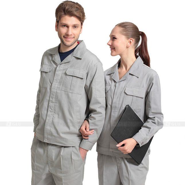 Quan ao dong phuc bao ho GLU X427 đồng phục công nhân xây dựng