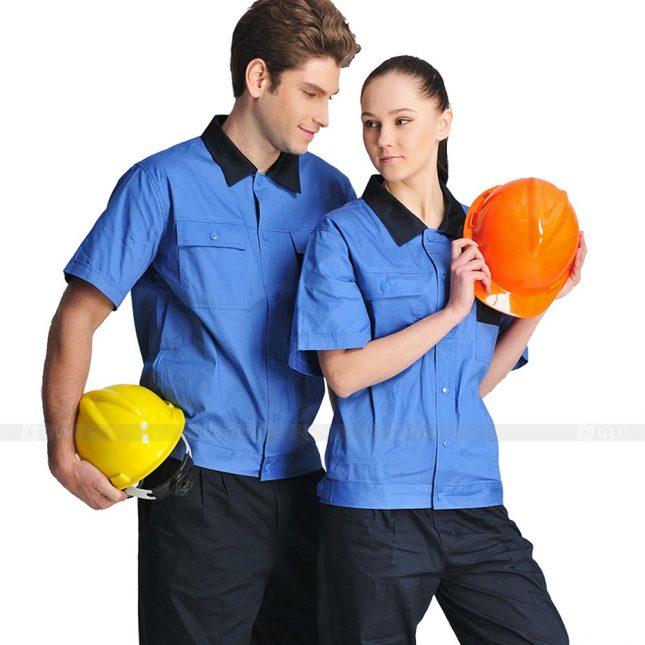 Quan ao dong phuc bao ho GLU X428 đồng phục công nhân xây dựng