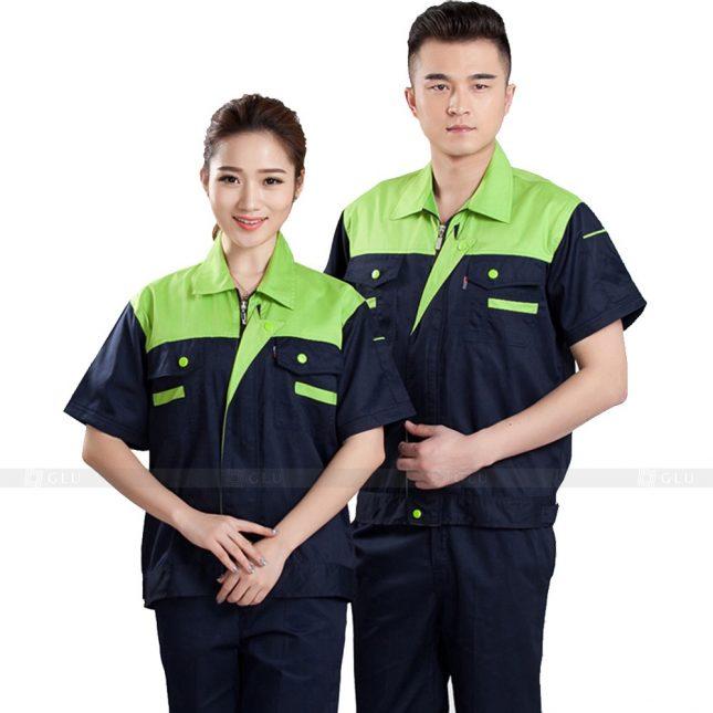 Quan ao dong phuc bao ho GLU X433 đồng phục công nhân xây dựng