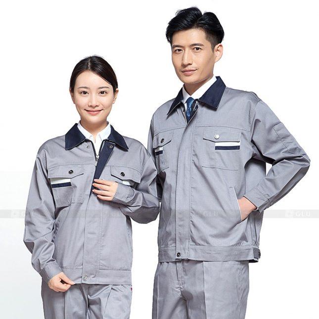Quan ao dong phuc bao ho GLU X437 đồng phục công nhân xây dựng