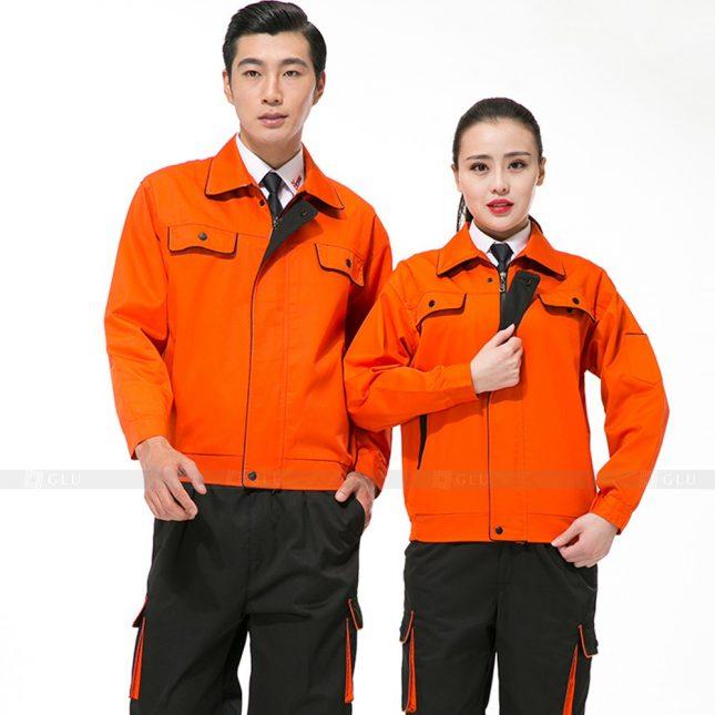 Quan ao dong phuc bao ho GLU X439 đồng phục công nhân xây dựng