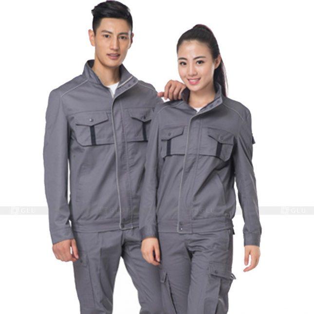 Quan ao dong phuc bao ho GLU X448 đồng phục công nhân xây dựng