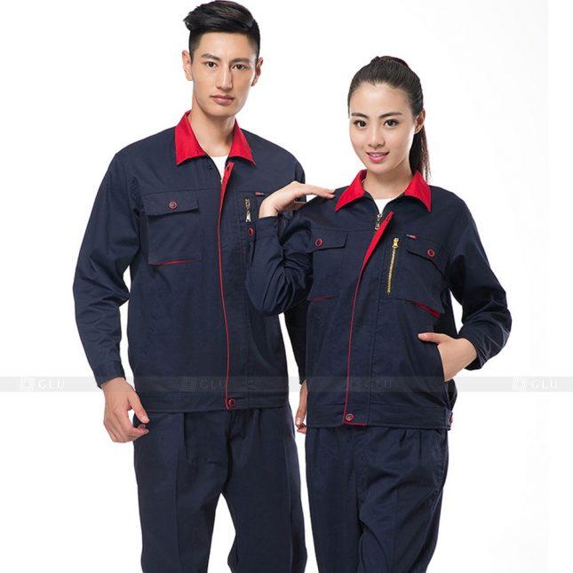 Quan ao dong phuc bao ho GLU X456 đồng phục công nhân xây dựng