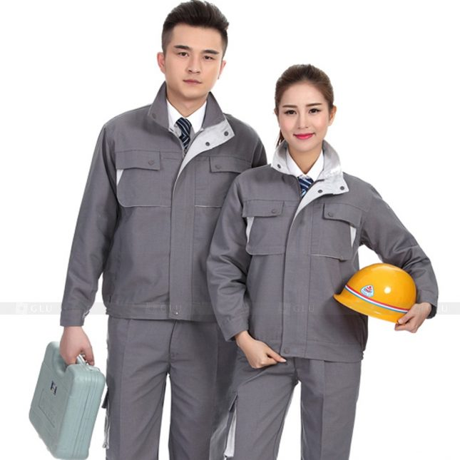 Quan ao dong phuc bao ho GLU X467 áo công nhân