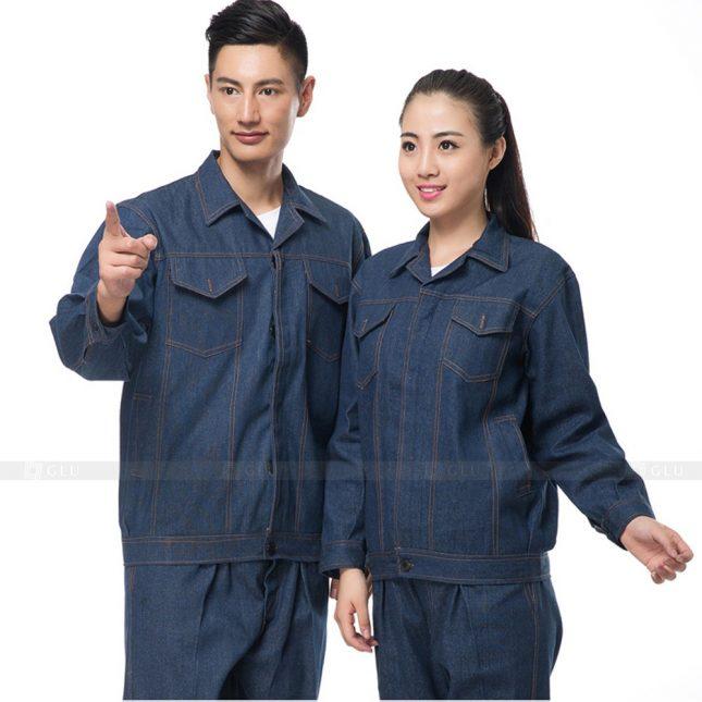 Quan ao dong phuc bao ho GLU X472 áo công nhân