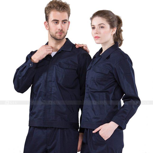 Quan ao dong phuc bao ho GLU X490 áo công nhân