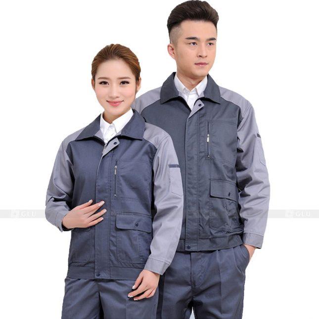 Quan ao dong phuc bao ho GLU X494 áo công nhân