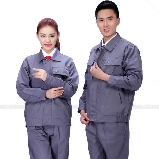 Quan ao dong phuc bao ho GLU X496 áo công nhân