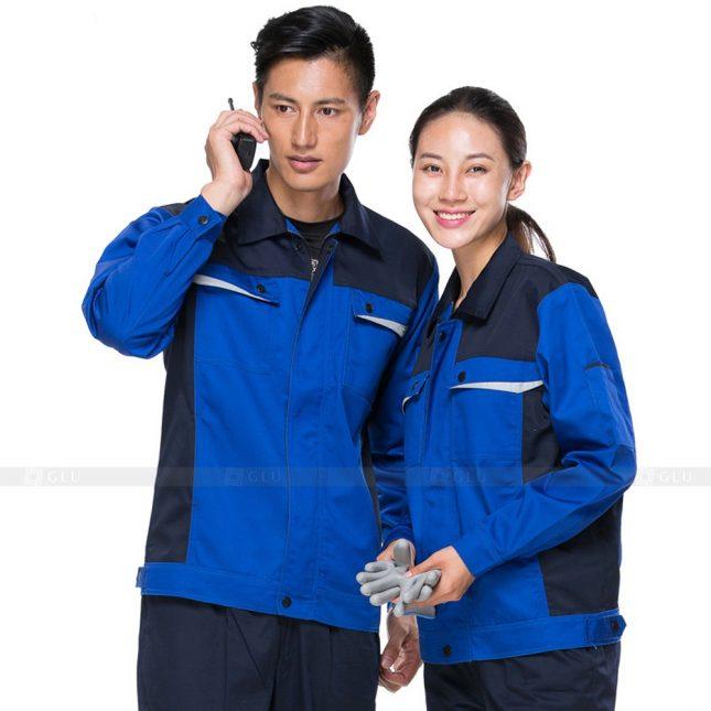 Quan ao dong phuc bao ho GLU X498 đồng phục công nhân xây dựng