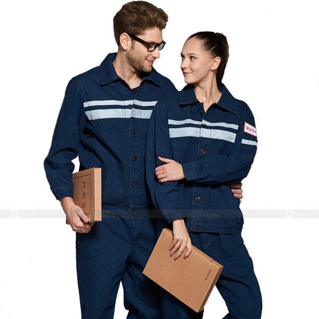 Quan ao dong phuc bao ho GLU X499 đồng phục công nhân xây dựng