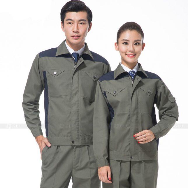 Quan ao dong phuc bao ho GLU X502 đồng phục công nhân xây dựng