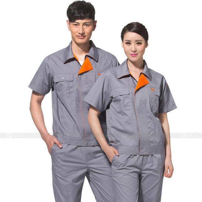 Quan ao dong phuc bao ho GLU X504 đồng phục công nhân xây dựng