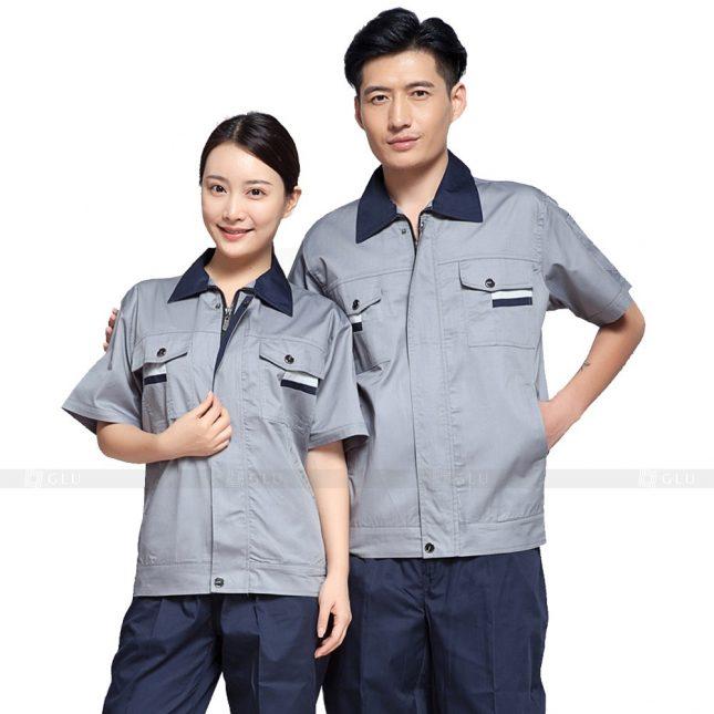 Quan ao dong phuc bao ho GLU X505 đồng phục công nhân xây dựng