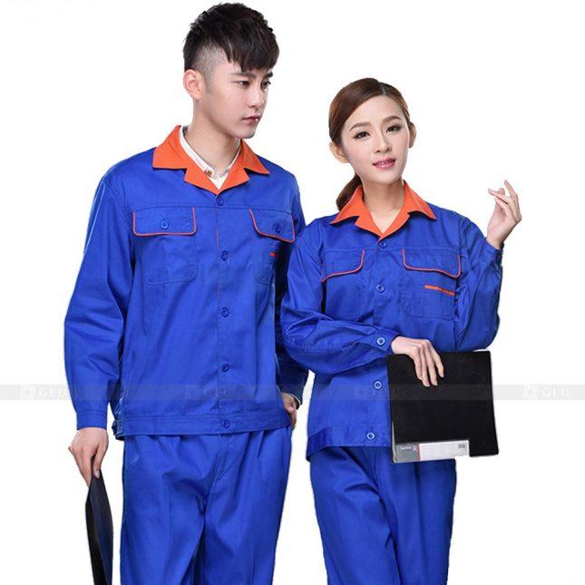 Quan ao dong phuc bao ho GLU X506 đồng phục công nhân xây dựng