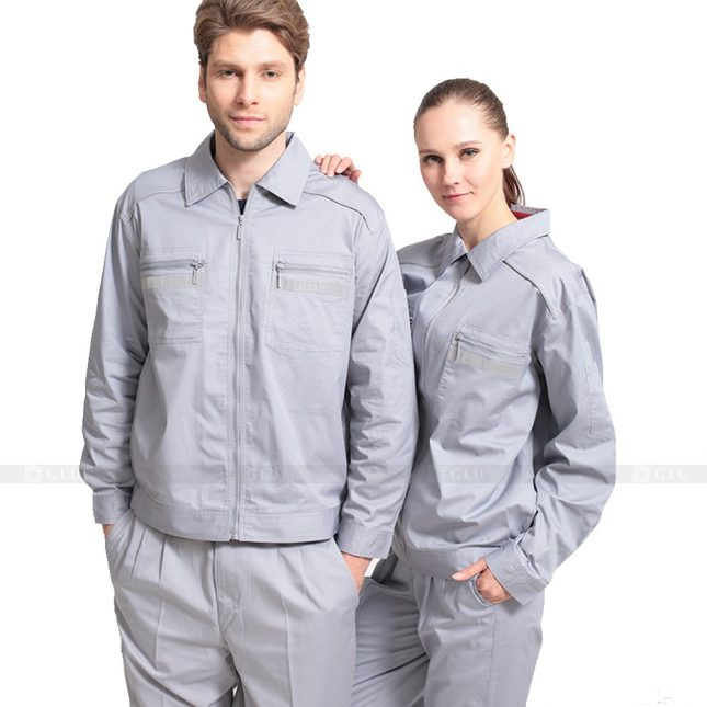 Quan ao dong phuc bao ho GLU X507 đồng phục công nhân xây dựng