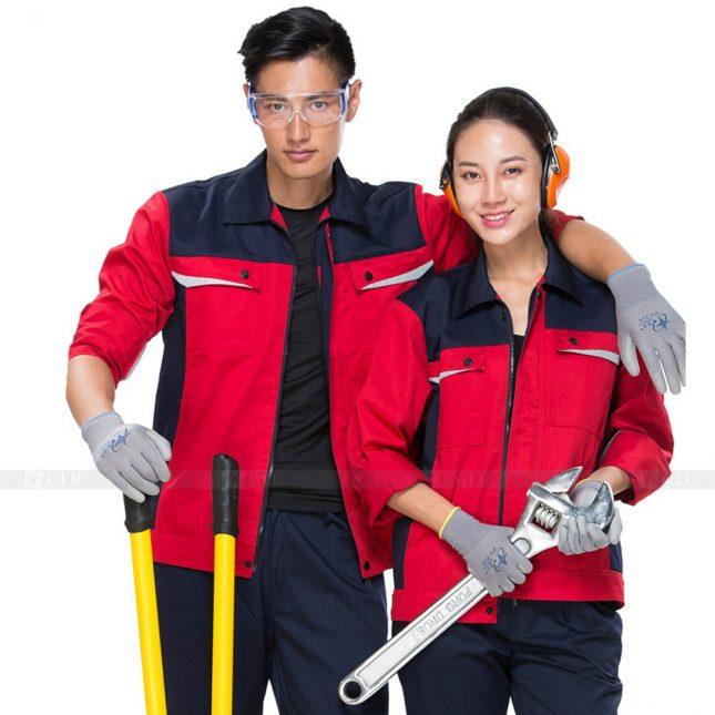 Quan ao dong phuc bao ho GLU X509 đồng phục công nhân xây dựng