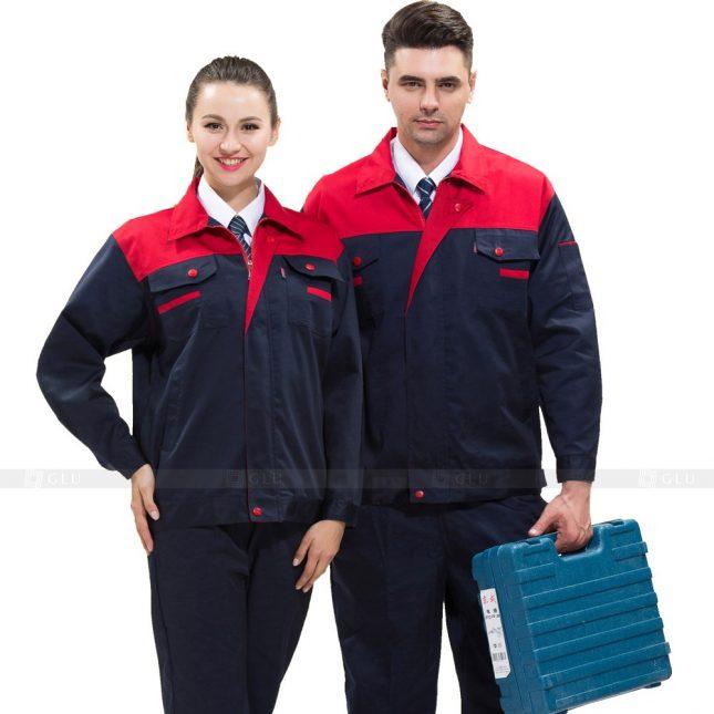 Quan ao dong phuc bao ho GLU X517 đồng phục công nhân xây dựng