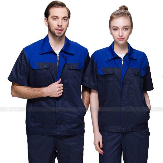Quan ao dong phuc bao ho GLU X519 đồng phục công nhân xây dựng