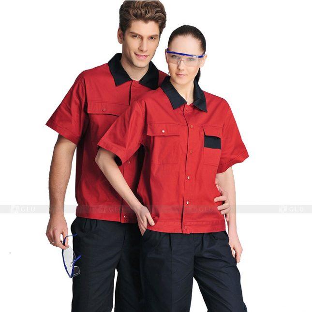 Quan ao dong phuc bao ho GLU X520 đồng phục công nhân xây dựng