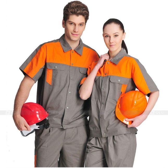 Quan ao dong phuc bao ho GLU X522 đồng phục công nhân xây dựng