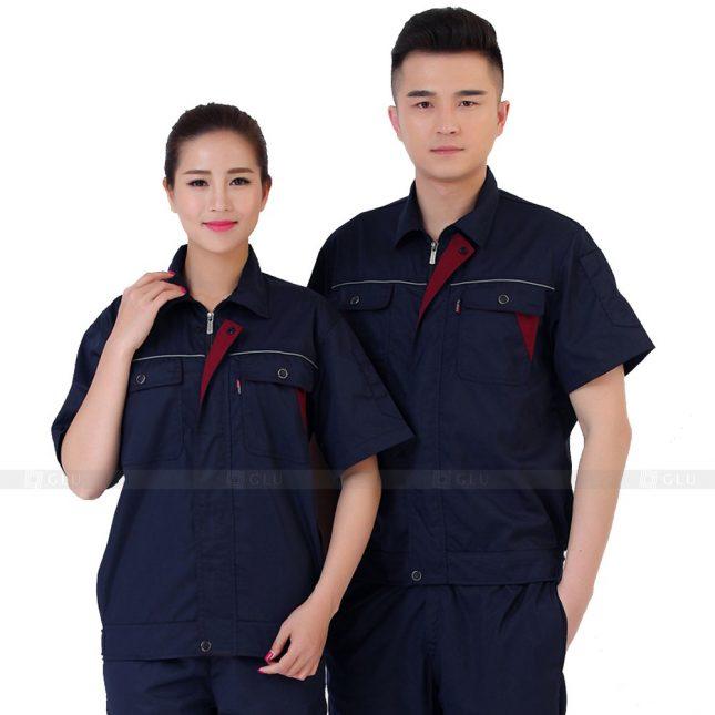Quan ao dong phuc bao ho GLU X525 đồng phục công nhân xây dựng