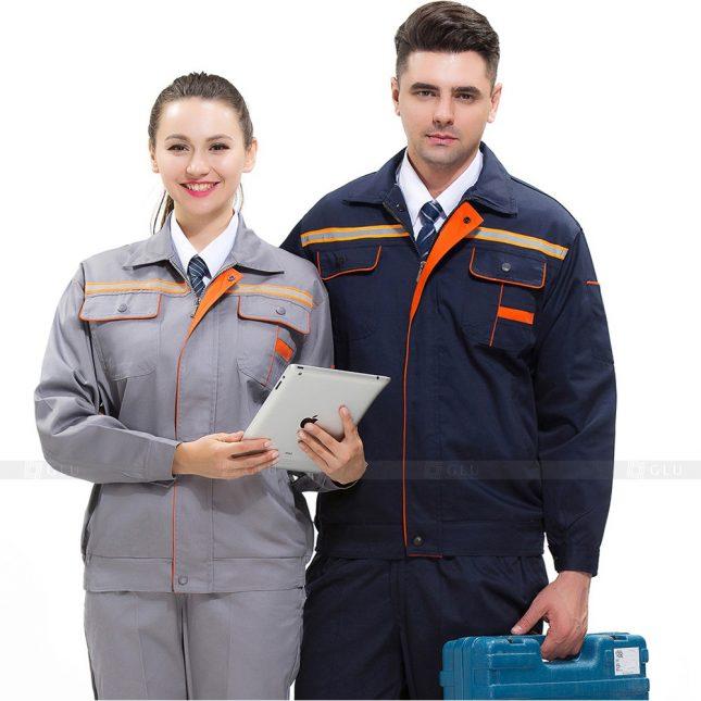 Quan ao dong phuc bao ho GLU X527 đồng phục công nhân xây dựng
