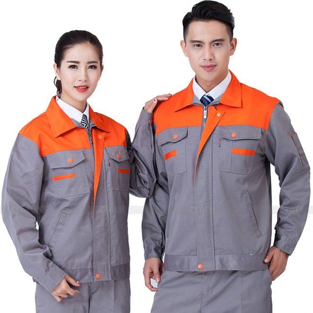 Quan ao dong phuc bao ho GLU X528 đồng phục công nhân xây dựng