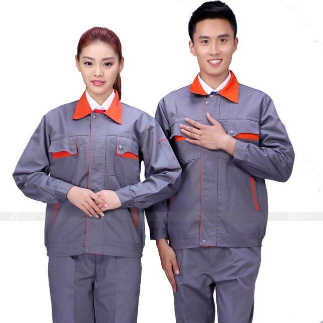 Quan ao dong phuc bao ho GLU X534 đồng phục công nhân xây dựng