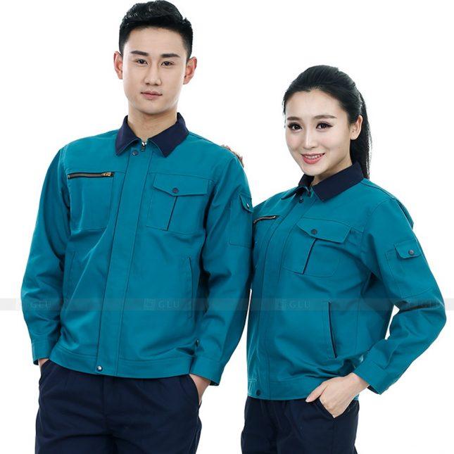 Quan ao dong phuc bao ho GLU X537 đồng phục công nhân xây dựng