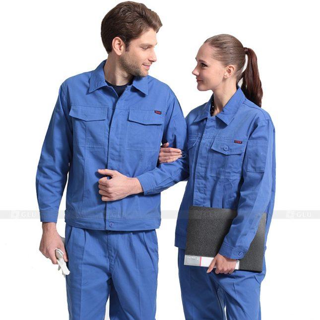 Quan ao dong phuc bao ho GLU X541 đồng phục công nhân xây dựng