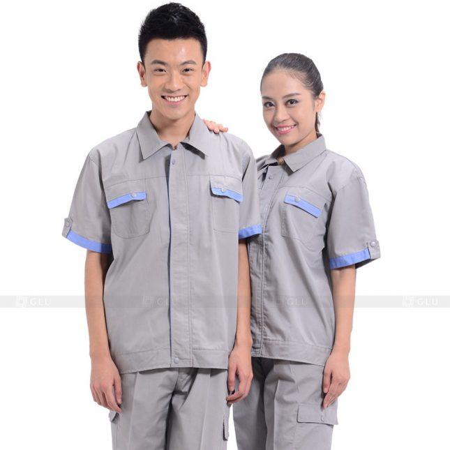 Quan ao dong phuc bao ho GLU X542 đồng phục công nhân xây dựng