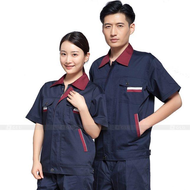 Quan ao dong phuc bao ho GLU X546 đồng phục công nhân xây dựng