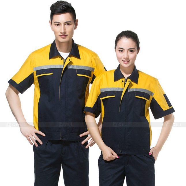 Quan ao dong phuc bao ho GLU X549 đồng phục công nhân xây dựng