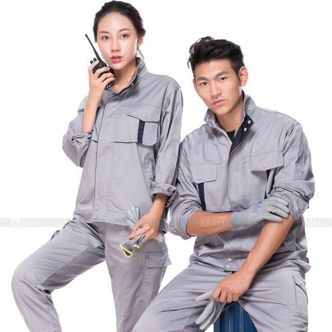 Quan ao dong phuc bao ho GLU X554 đồng phục công nhân xây dựng
