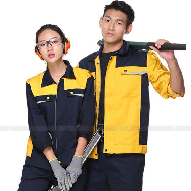 Quan ao dong phuc bao ho GLU X556 đồng phục công nhân xây dựng