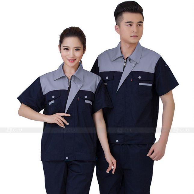 Quan ao dong phuc bao ho GLU X558 đồng phục công nhân xây dựng