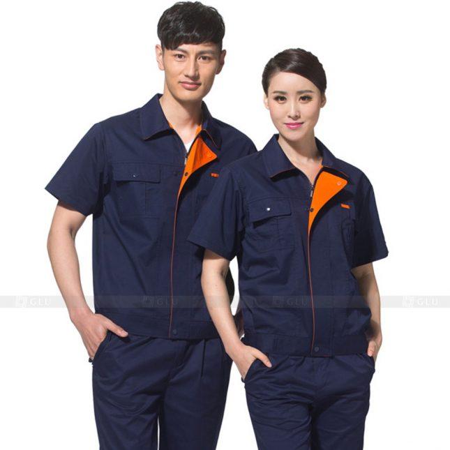 Quan ao dong phuc bao ho GLU X560 đồng phục công nhân xây dựng