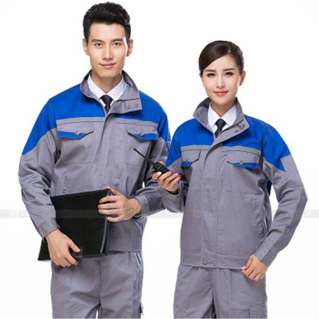 Quan ao dong phuc bao ho GLU X562 đồng phục công nhân xây dựng