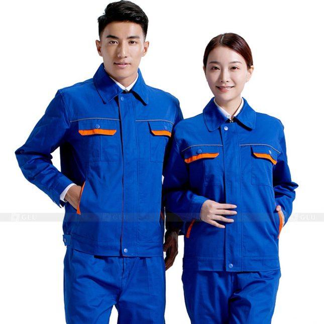 Quan ao dong phuc bao ho GLU X563 đồng phục công nhân xây dựng