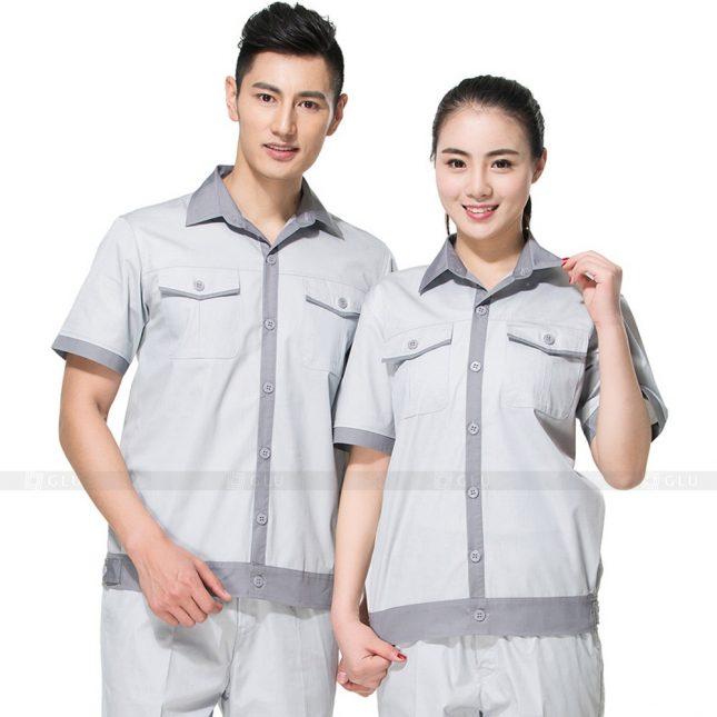 Quan ao dong phuc bao ho GLU X566 đồng phục công nhân xây dựng