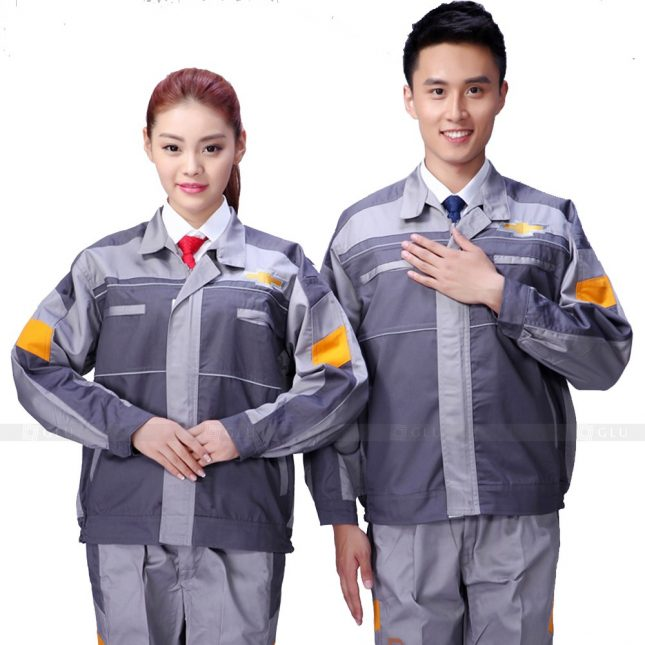 Quan ao dong phuc bao ho GLU X572 đồng phục công nhân xây dựng