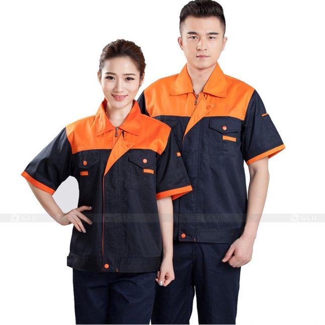 Quan ao dong phuc bao ho GLU X573 đồng phục công nhân xây dựng